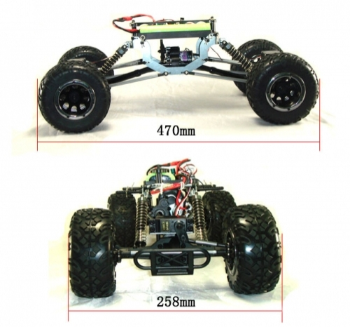 Радиоуправляемый краулер HSP Pangolin Electric Off-Road Long Crawler 4WD 1:10 - 94180L - 2.4G